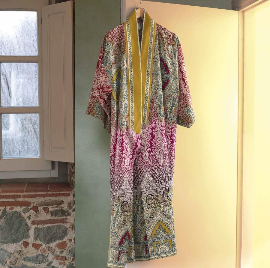 Kimono algodón peinado de satén (Bassetti) - Villalba Interiorismo