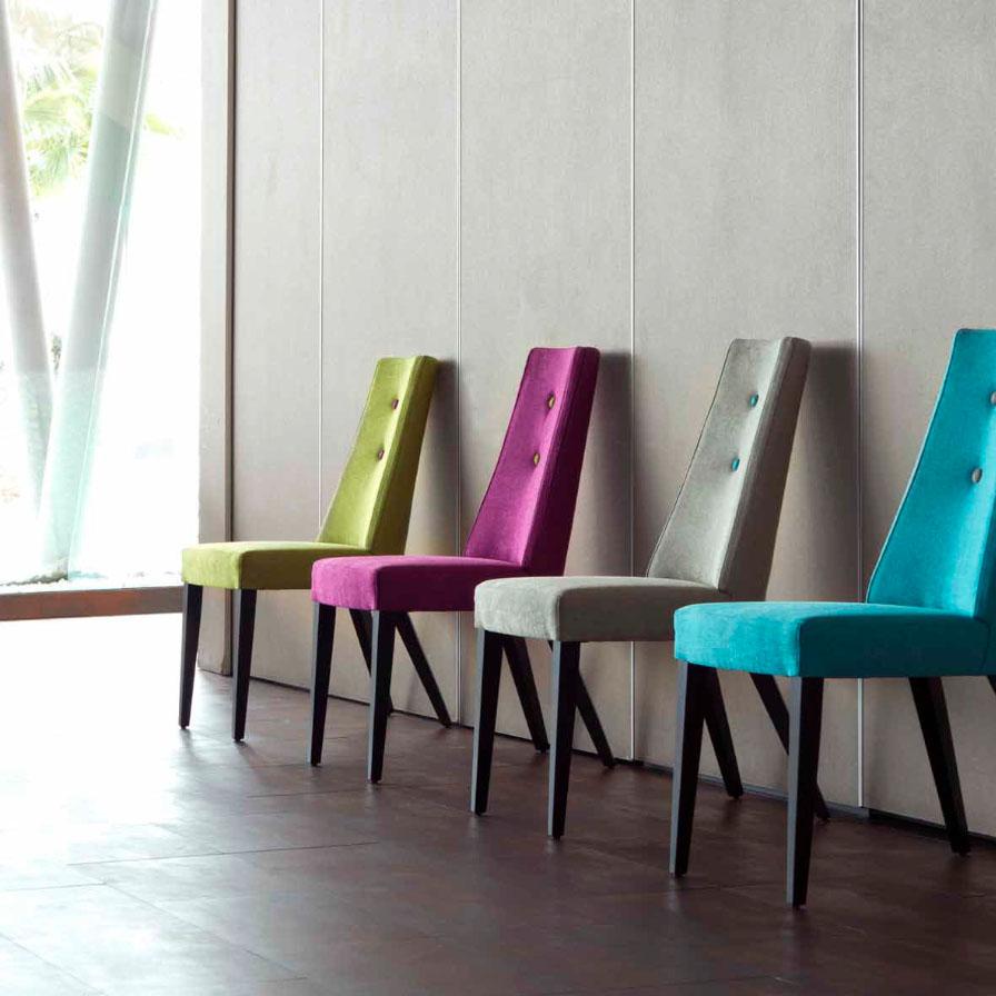 El terciopelo tejido de moda villalba interiorismo - Telas para sillas ...