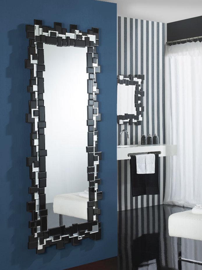 Crea ambientes modernos con espejos de cristal villalba for Espejos grandes para pasillos