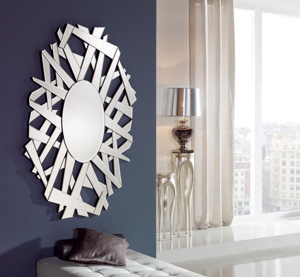 Crea ambientes modernos con espejos de cristal villalba for Espejos pared salon