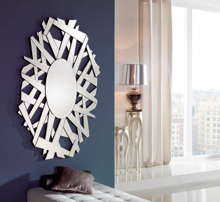 Espejo moderno de cristal 3 - Villalba Interiorismo
