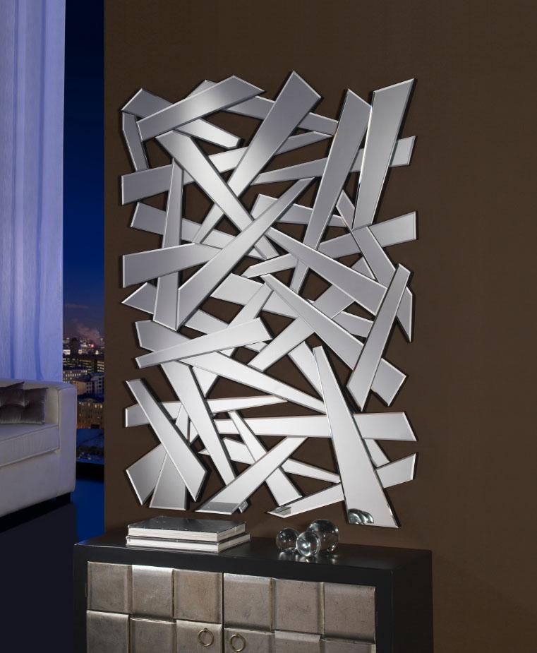 Crea ambientes modernos con espejos de cristal villalba for Espejos originales para salon
