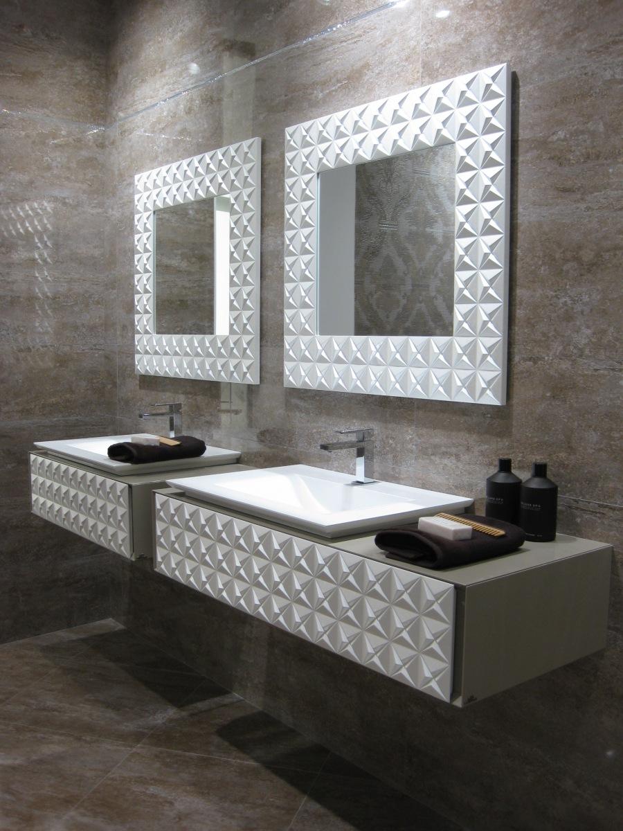 Baño con Swarovski Porcelanosa - Villalba Interiorismo