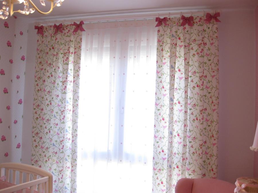 Cortinas habitación bebé - Villalba Interiorismo