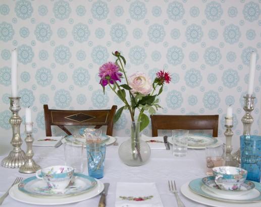 Comedor con papel pintado (2)