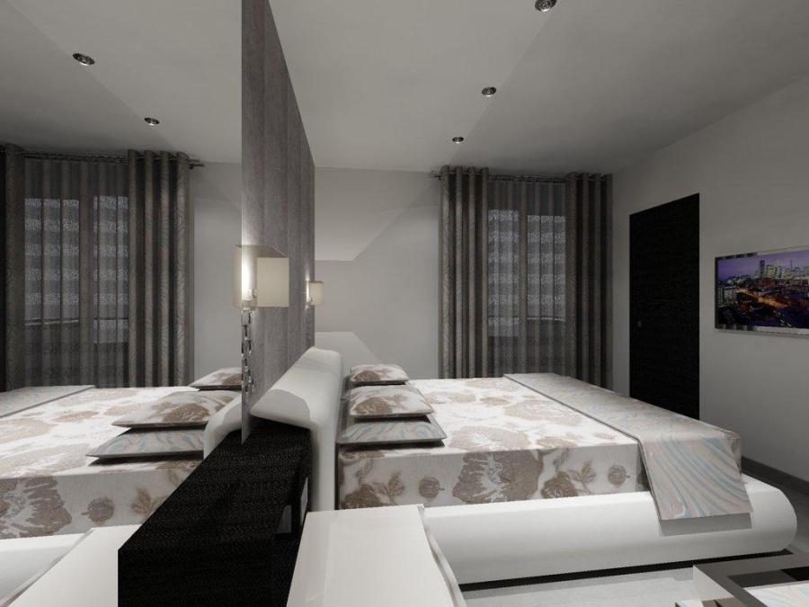 Cortina con doble barra y ollaos (2) - Villalba Interiorismo
