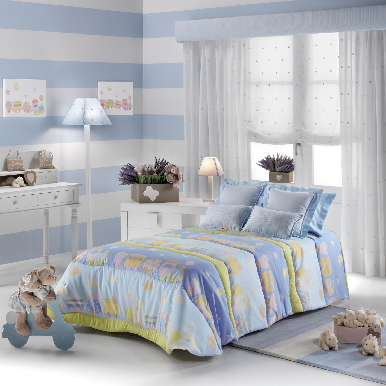 Habitaciones personalizadas para los m s peques villalba for Cuarto azul con gris