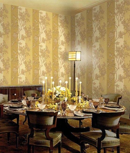 Comedor con papel pintado de Roberto Cavalli (2)- Villalba Interiorismo
