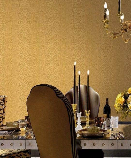 Comedor con papel pintado de Roberto Cavalli (3)  - Villalba Interiorismo