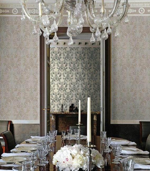 Comedor con papel pintado de Roberto Cavalli (4)  - Villaba Interiorismo