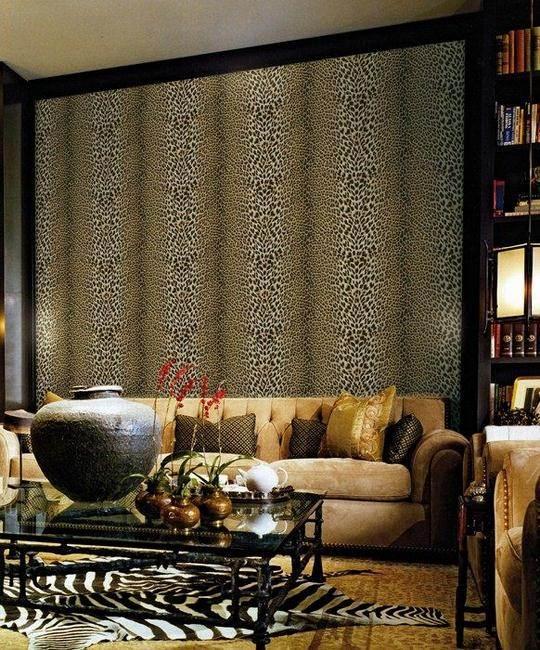Salón con papel pintado de Roberto Cavalli  (5) - Villalba Interiorismo