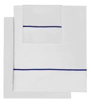 Sábana Roma bordón azul de Bassols - Villalba Interiorismo