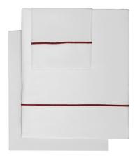 Sábana Roma bordón rojo de Bassols - Villalba Interiorismo