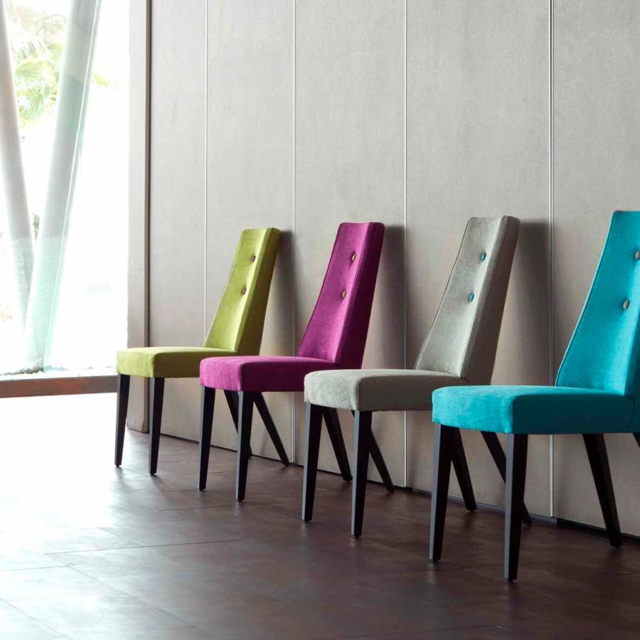 Sillas tapizadas de terciopelo modelo Park - Villalba Interiorismo
