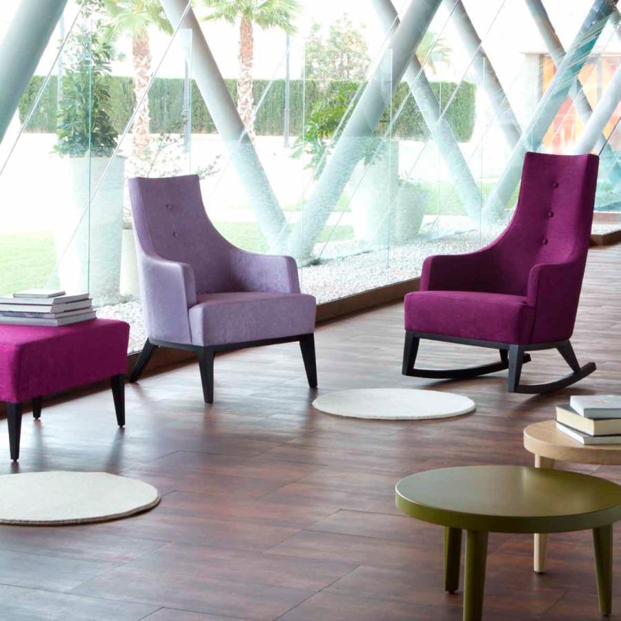 Sillón bajo y balancin modelo Park - Villalba Interiorismo