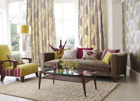 Cojines sofá como dobles cortinas (2) - Villalba Interiorismo