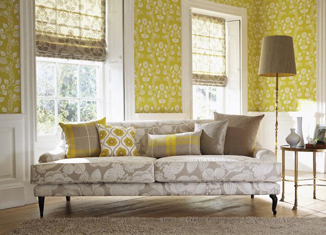 Cojines sofá estilo rústico - Villalba Interiorismo