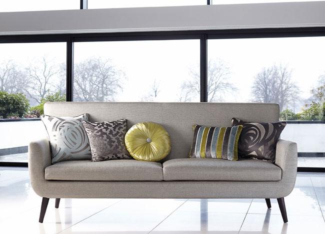 Cojines sofá - Villalba Interiorismo