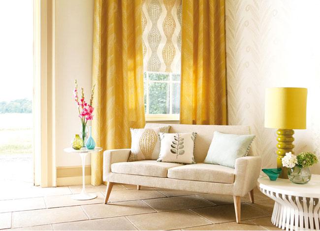 Cortinas en amarillo (2) - Villalba Interiorismo