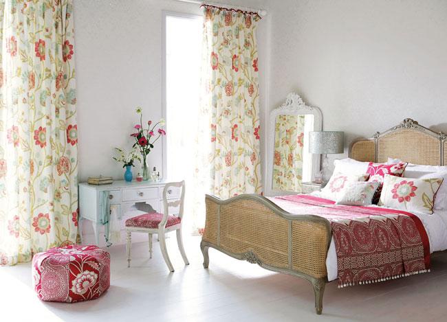 C mo combinar distintos estampados en el mismo ambiente villalba interiorismo - Telas estampadas para cortinas ...