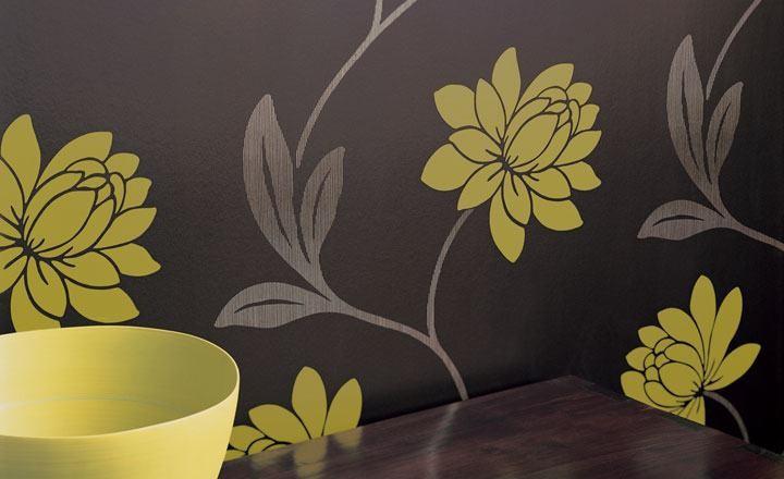 5 ideas para decorar en amarillo el sal n villalba for Papel pintado pared salon