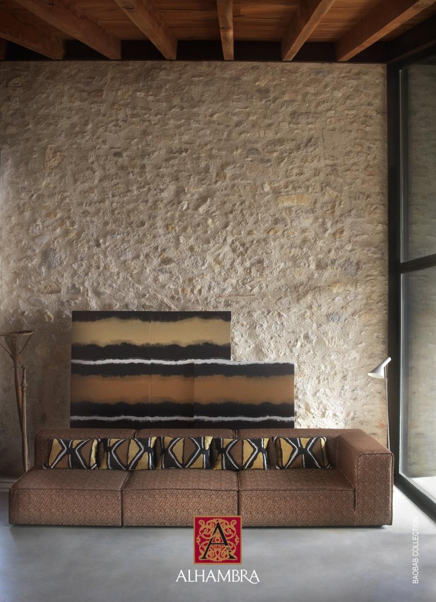 Sofá tapizado colección Baobab de Alhambra - Villalba Interiorismo