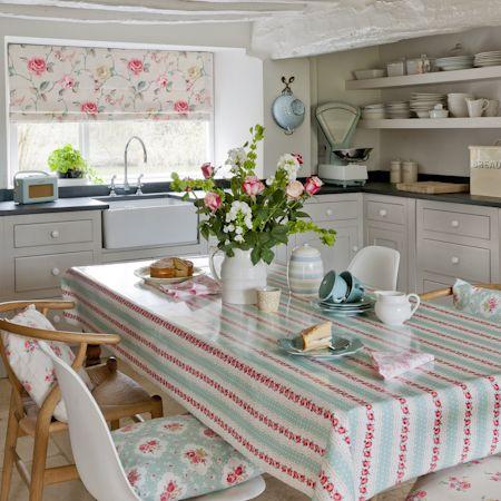 Cocina con colores pasteles - Villalba Interiorismo