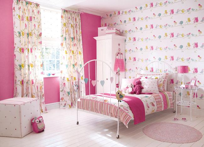 Dormitorio infantil telas Harlequin - Villalba Interiorismo