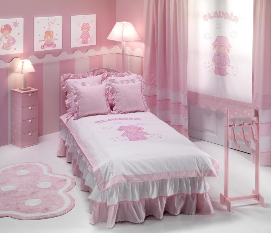 Habitación rosa pastel de Gama 2000 - Villalba Interiorismo