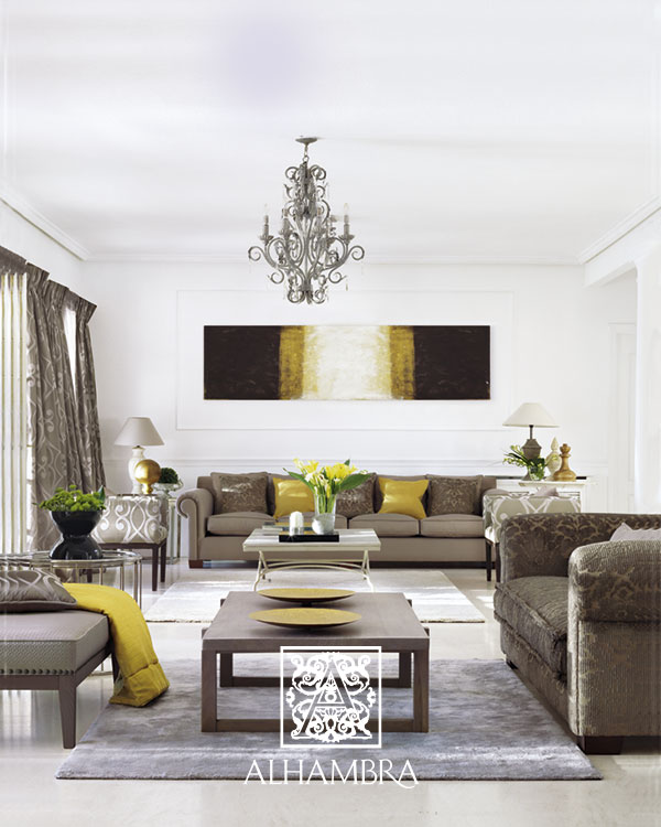 El amarillo color de moda villalba interiorismo - Interiorismo salones ...