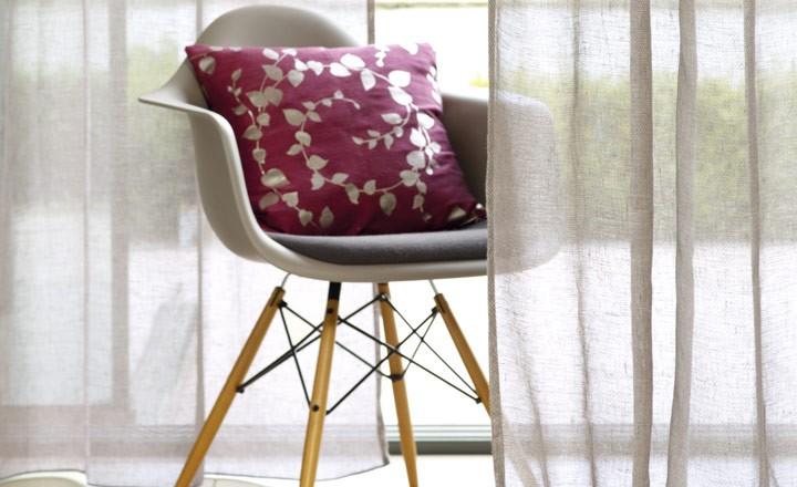 Visillo de lino - Villalba Interiorismo