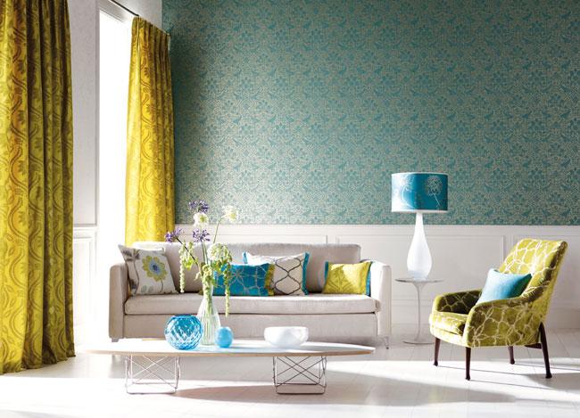 Combinación de turquesa con verde - Villalba Interiorismo