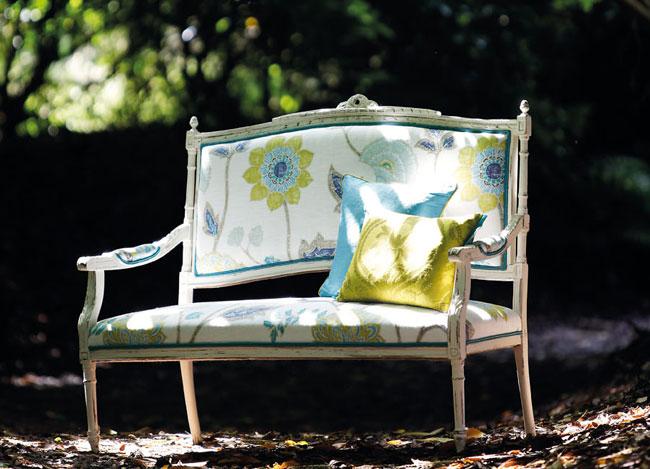 Estampado turquesa con verde - Villalba Interiorismo