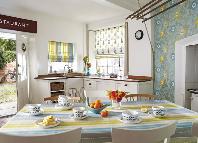 Estampados con color turquesa - Villalba Interiorismo