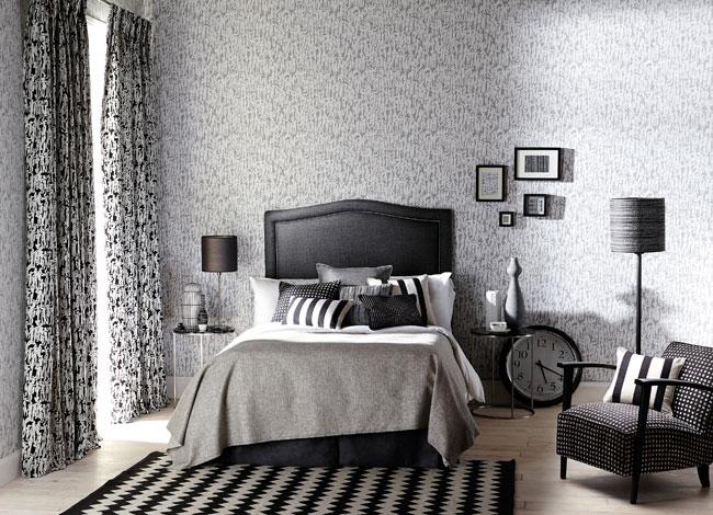 Habitación en blanco, gris y negro - Villalba Interiorismo (2)