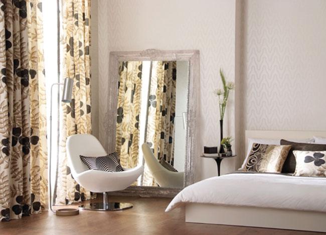 Habitación en blanco, gris y negro - Villalba Interiorismo