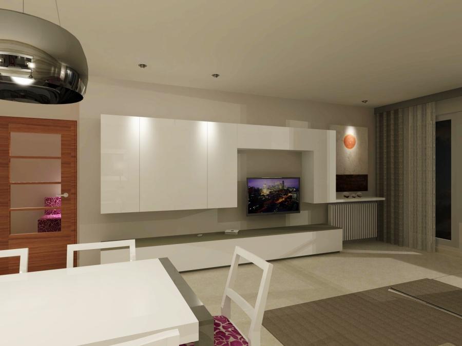 Imagen salón en 3D (2) - Villalba Interiorismo