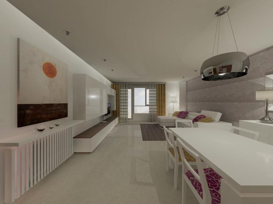 Imagen salón en 3D (3) - Villalba Interiorismo