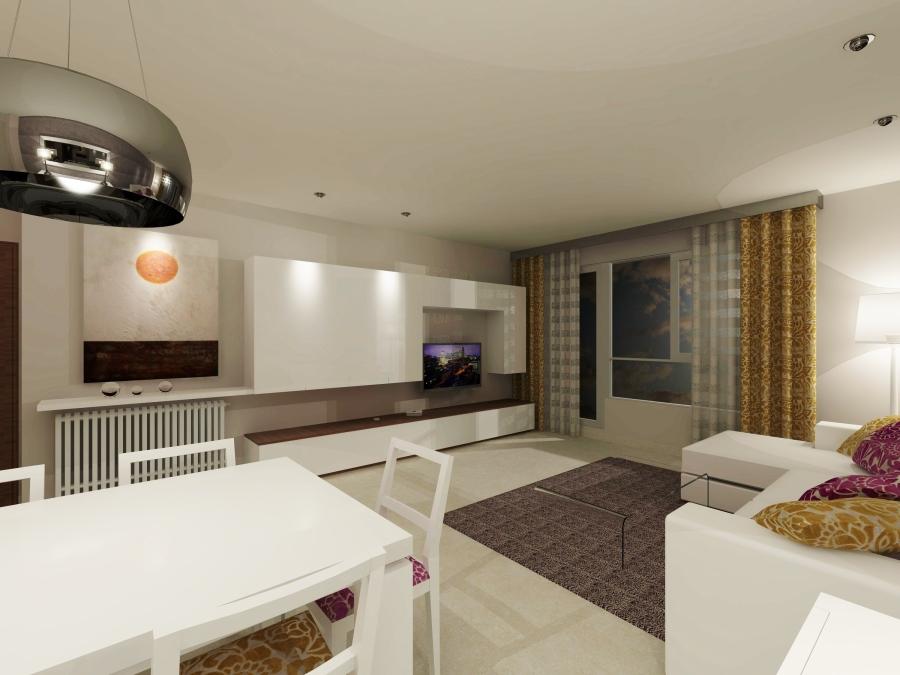 Imagen salón en 3D (4) - Villalba Interiorismo