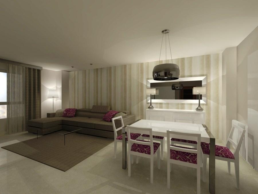 Imagen salón en 3D (5) - Villalba Interiorismo