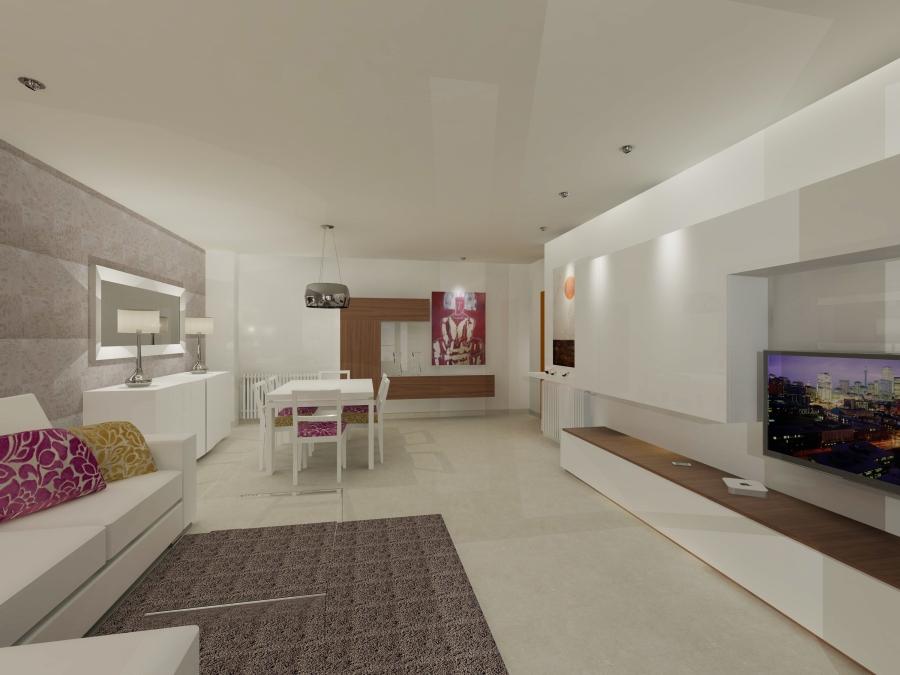 Imagen salón en 3D - Villalba Interiorismo