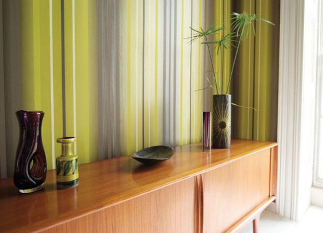 Papel pintado en verde - Villalba Interiorismo