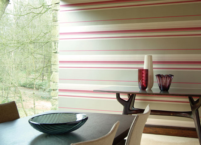 Papel pintado rayas horizontales - Villalba Interiorismo