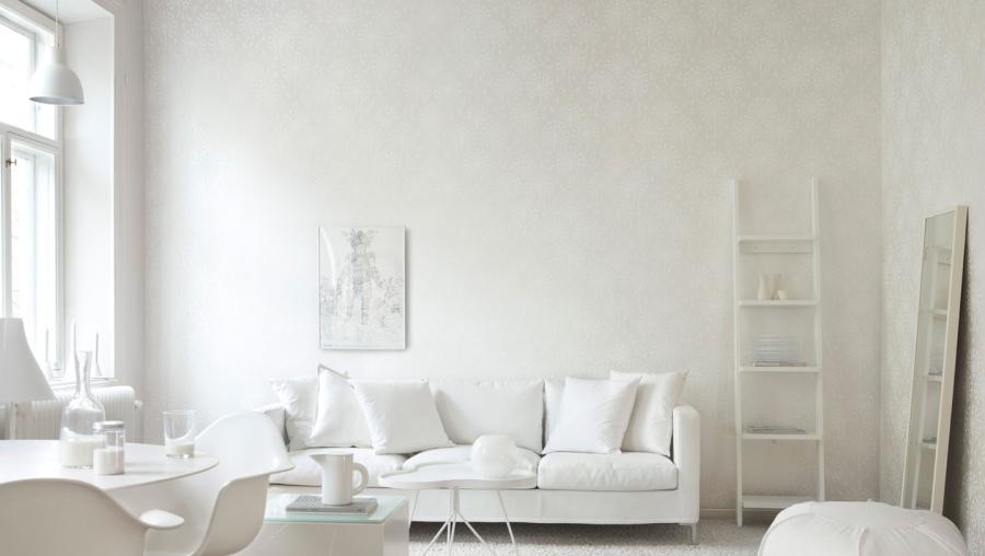 Salón blanco impoluto - Villalba Interiorismo