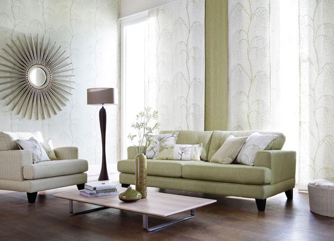 Sofá en verde - Villalba Interiorismo