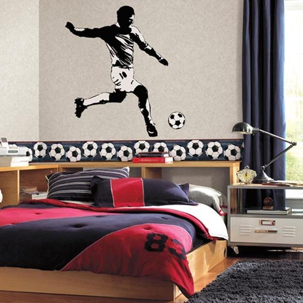 Sticker jugador de futbol - Villalba Interiorismo