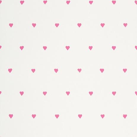 Papel pintado corazones en rosa - Villalba Interiorismo
