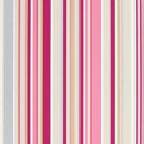 Papel pintado rayas rosa - Villalba Interiorismo