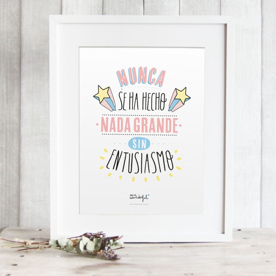 Lámina de Mr Wonderful - Villalba Interiorismo