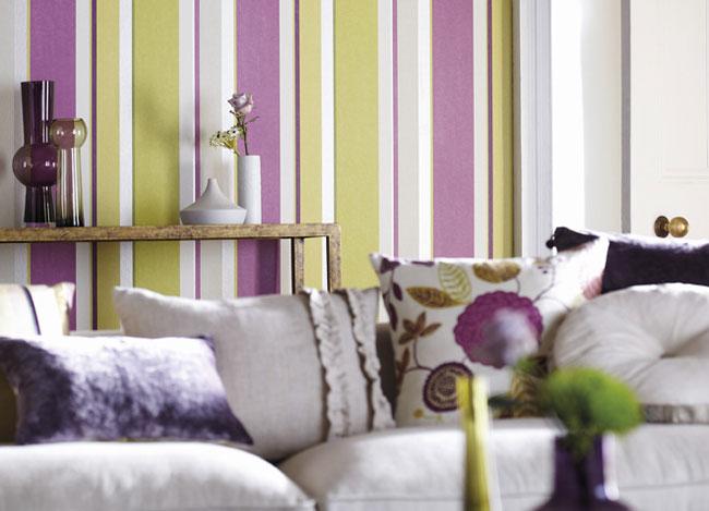 Papeles pintados a rayas son tendencia villalba - Papel pared rayas ...
